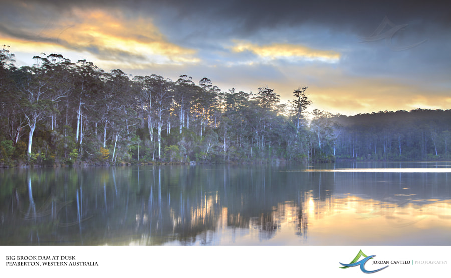 Big Brook Dam is located deep in the south-west of Western Australia. It is a very popular camping spot for visitors to the forestry town of Pemberton.