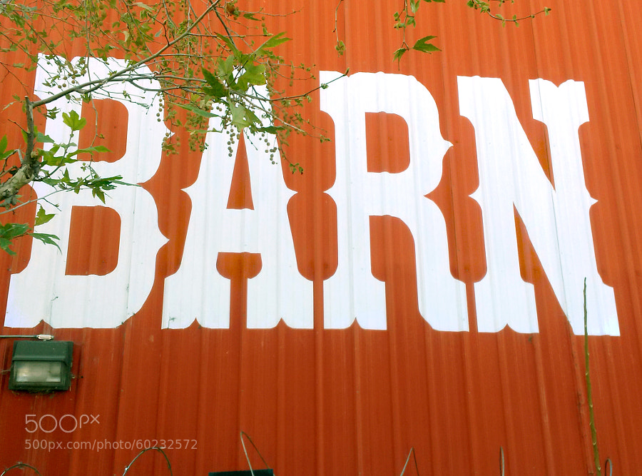 The back of The Red Barn in Tarzana, California.