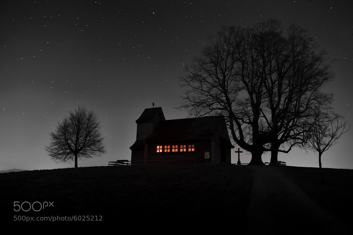 Photograph Church at Night (Michaelskreuz) by Martin Weibel on 500px