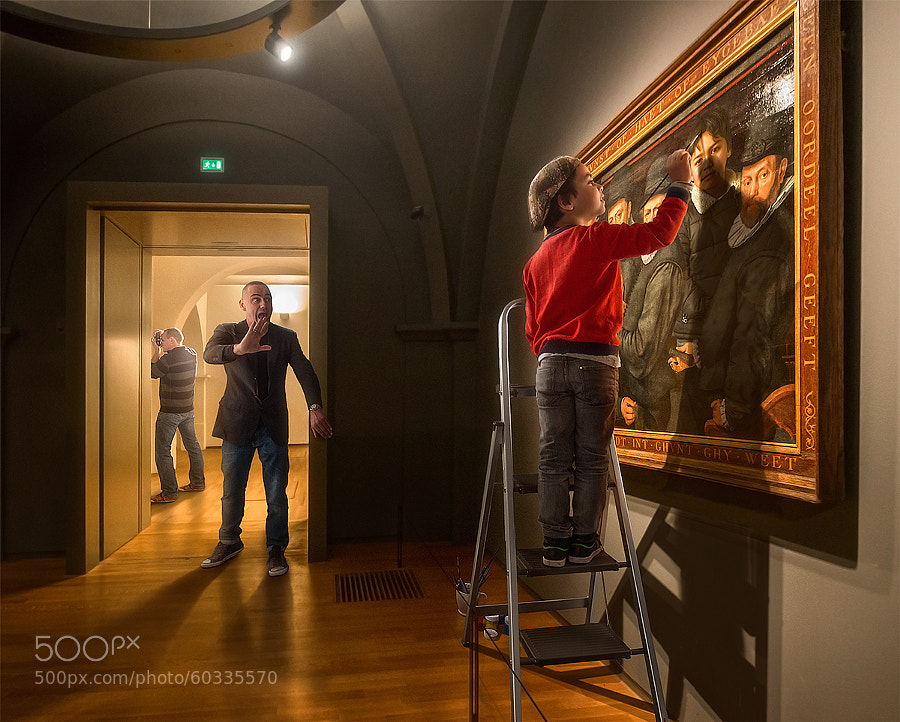 Photograph Selfportrait at the Museum ;) by Adrian Sommeling on 500px
