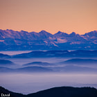 Before sunrise - View to the Alpes