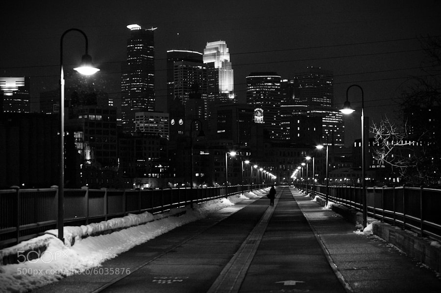 Taken on the Stone Arch bridge in Minneapolis, Minnesota. USA.