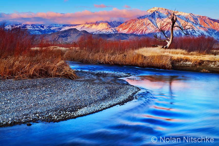 Photograph Owens River and Eastern Sierra Sunrise by Nolan Nitschke on 500px