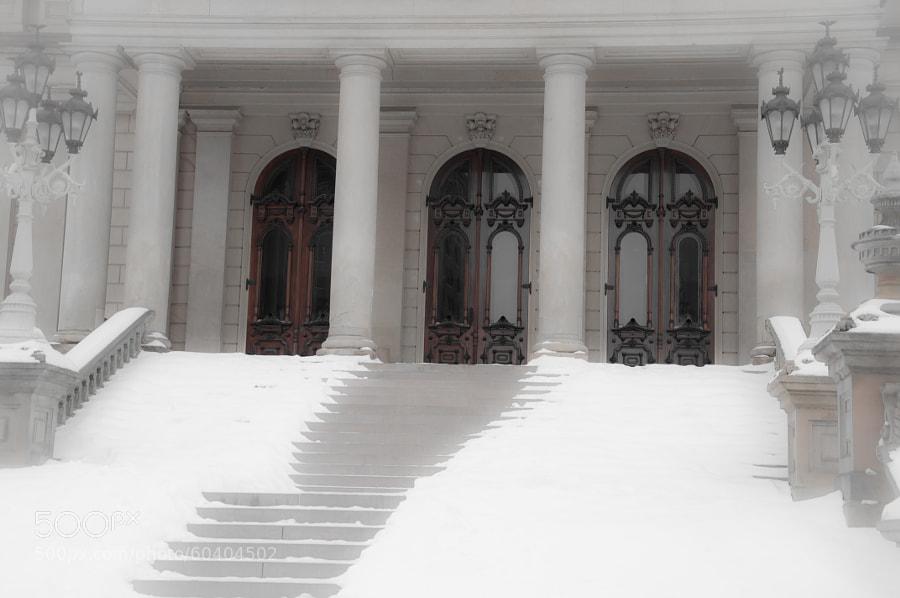 Front entrance, State capitol, Lansing, MI