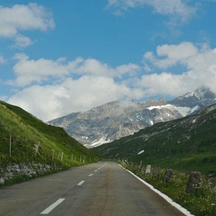 Green mountains of Switzerland