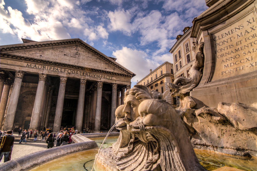 Photograph The Pantheon in Rome; from My Odd Perspective by David Edenfield on 500px