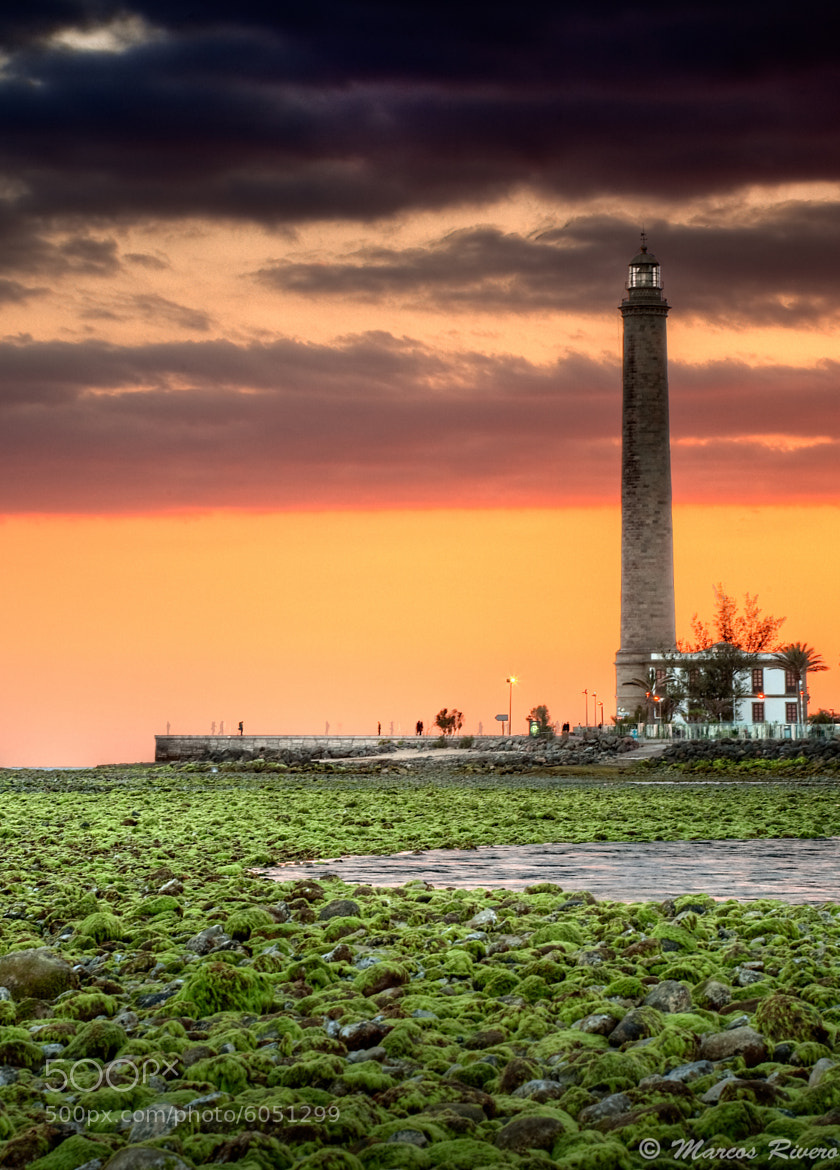 Photograph Atardecer/ Faro de Maspalomas  by Marcos  Rivero on 500px