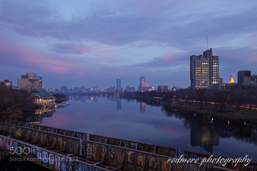 Photograph Boston University Bridge Sunset by Redmere Photography on 500px