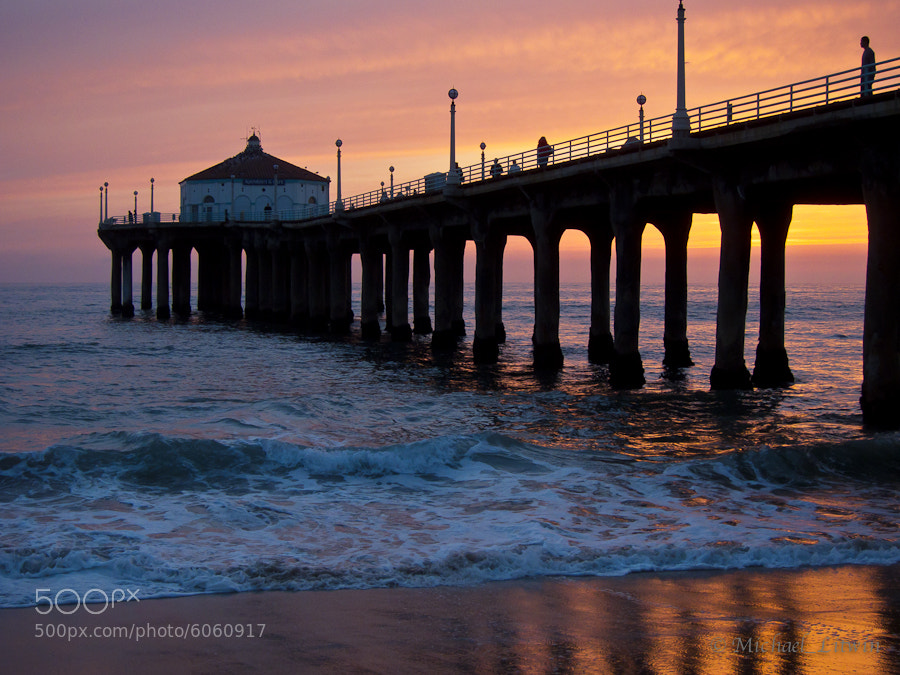 Photograph Manhattan Beach, California Pier at Sunset by Michael Litwin on 500px