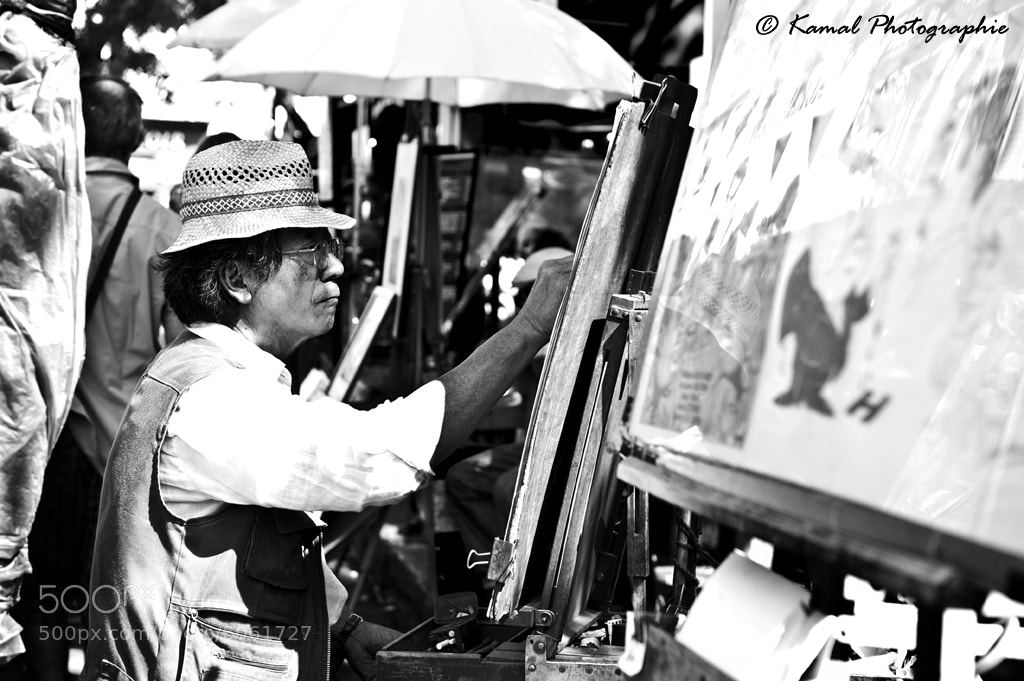 Photograph Street Painter in Montmartre, Paris by Kamal Photography on 500px