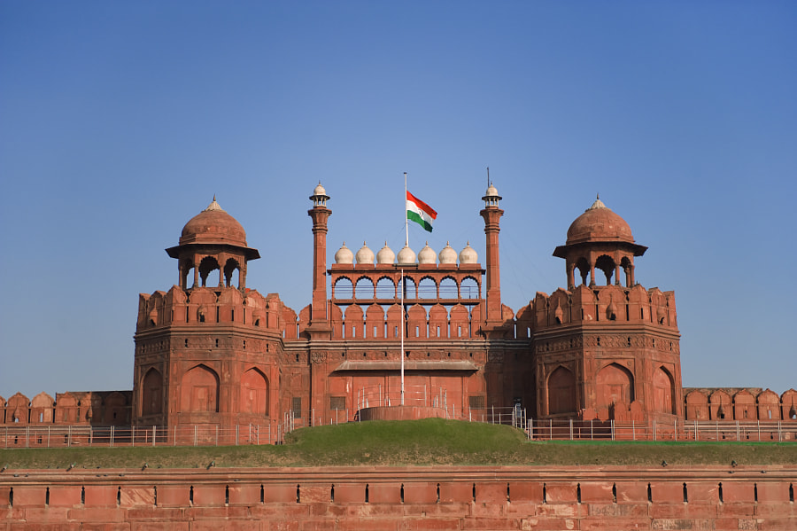 Red Fort (Lal Qila) in New Delhi, India by Cyril Lecorvaisier on 500px.com