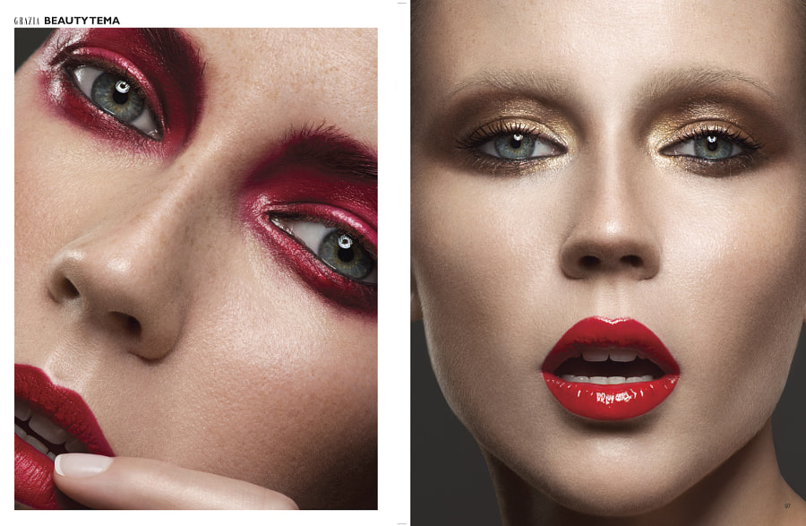 Grazia beauty editorial 01/14