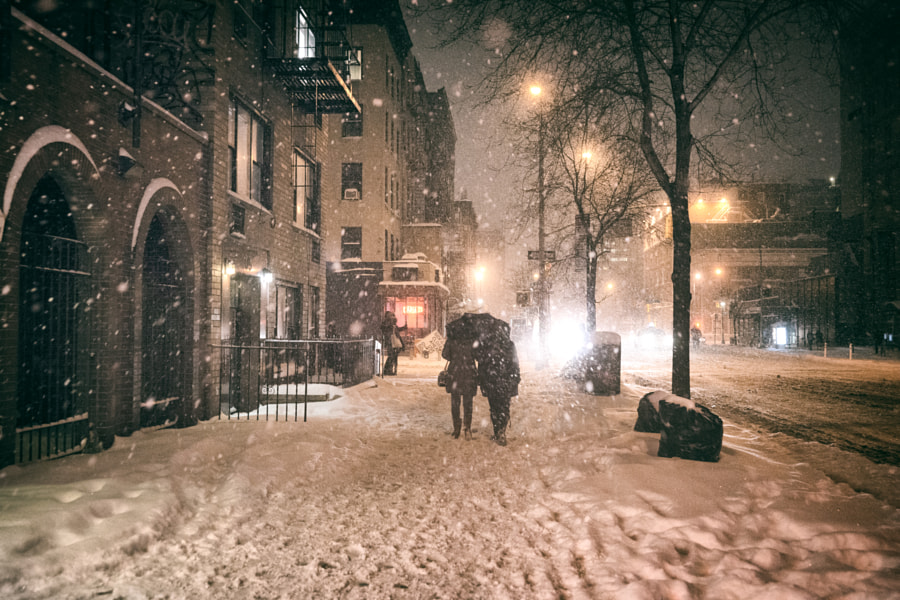 Photograph Winter - New York City - Night in the East Village by Vivienne Gucwa on 500px