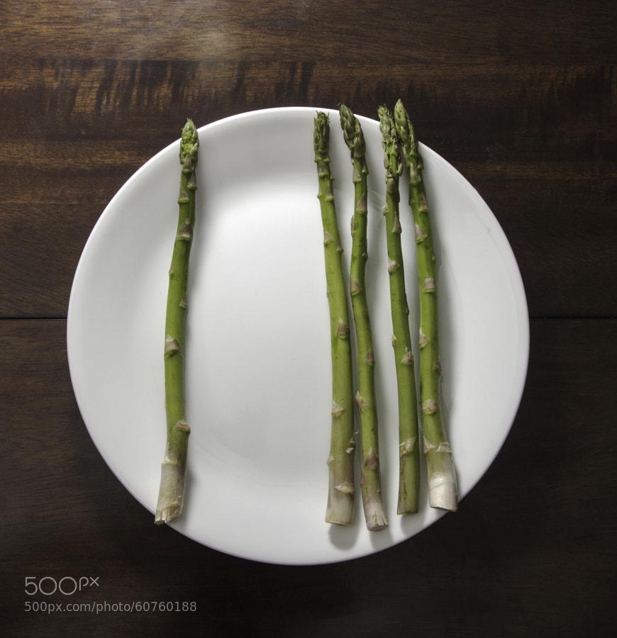 Asparagus with asymmetrical balance.