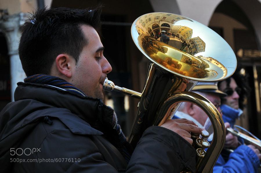 Photograph Mantova inside a tuba by Maya Lynne on 500px
