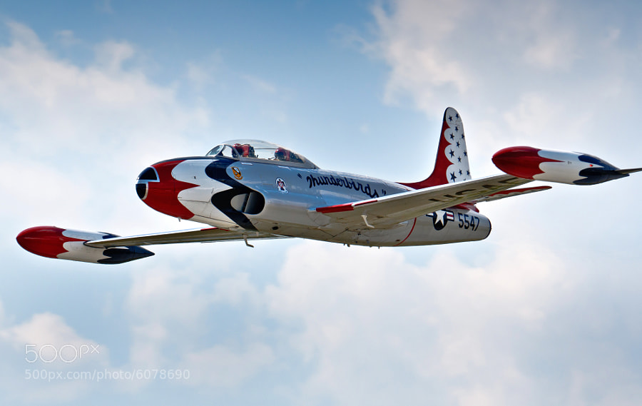 "Fowler ""Big Dog"" Cary's T-33 Shooting Star in Thunderbirds livery."