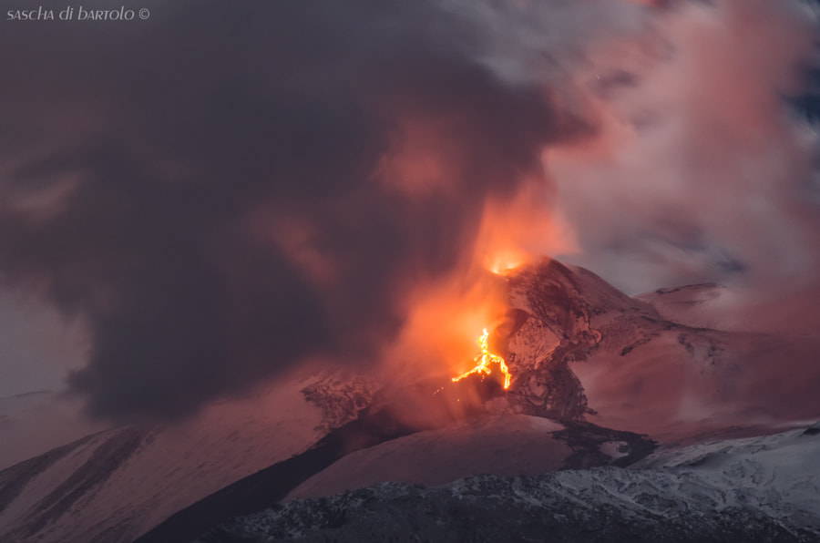 Photograph Etna February 13 2014 by Sascha Di Bartolo on 500px