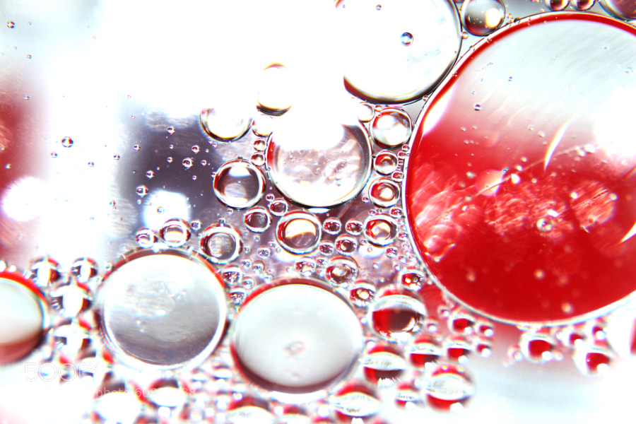 Oil and Water - Red by Jeff Carter on 500px.com