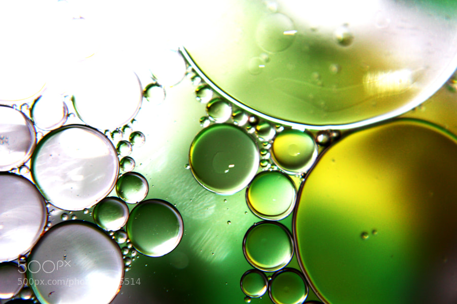 Photograph Oil and Water - Emerald by Jeff Carter on 500px