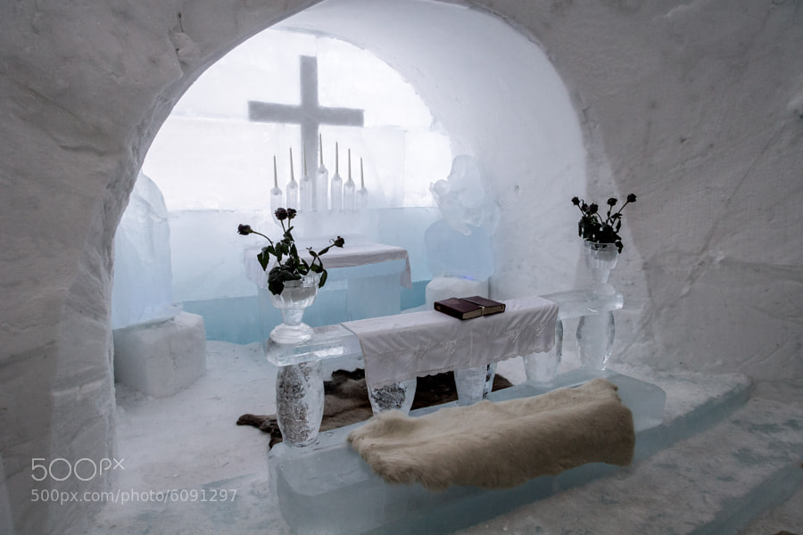 From the ice hotel in Alta