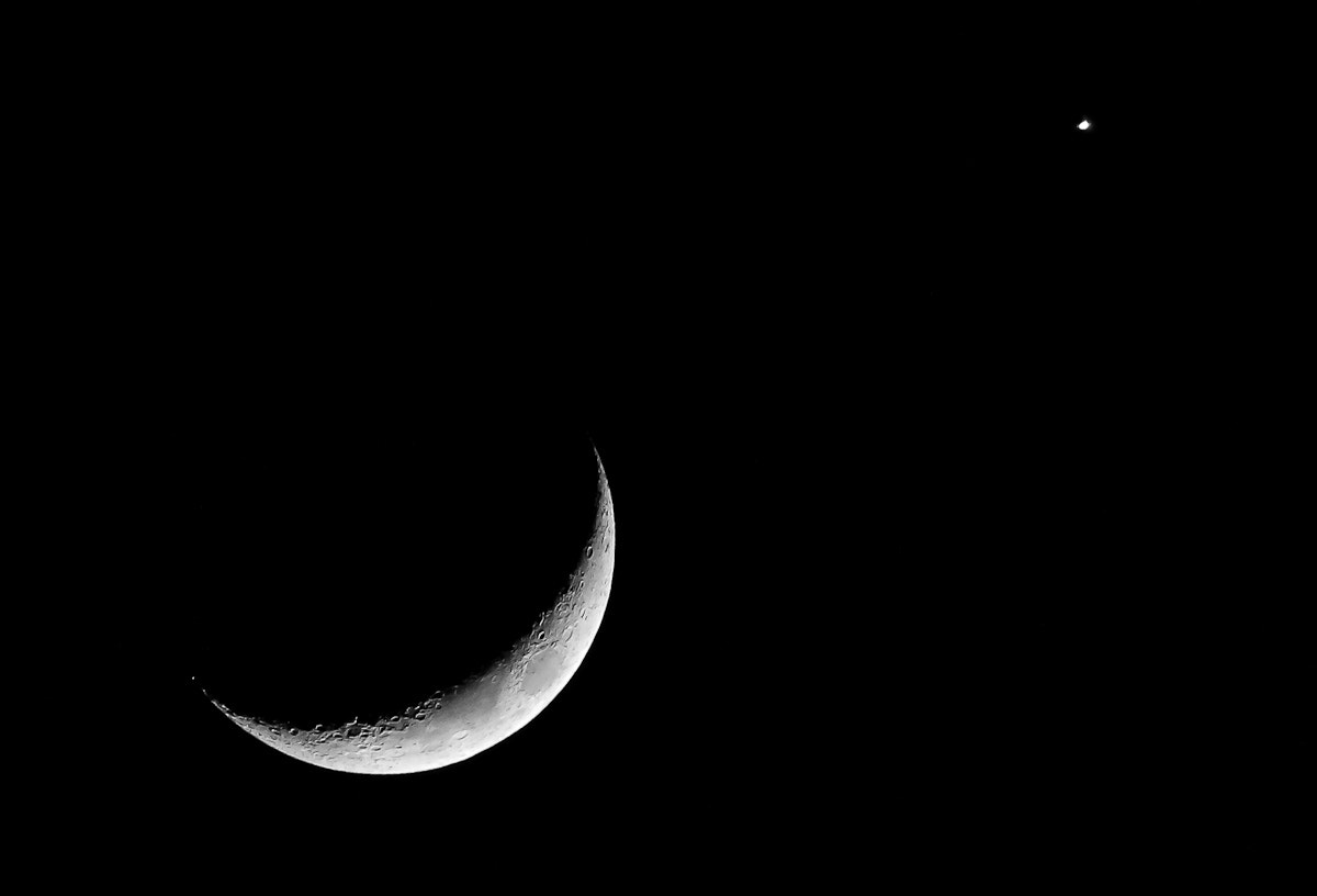Photograph Moon and Venus by Kate Johnson on 500px