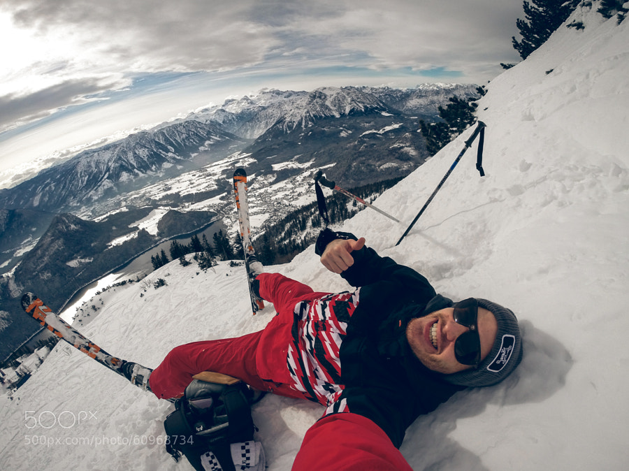 Photograph grinning mountain selfie by Valentin Kouba on 500px