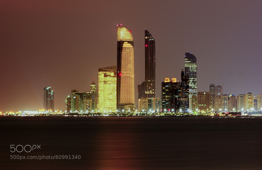 Photograph Abu Dhabi Skyline - Corniche Beach by Smithin Das on 500px