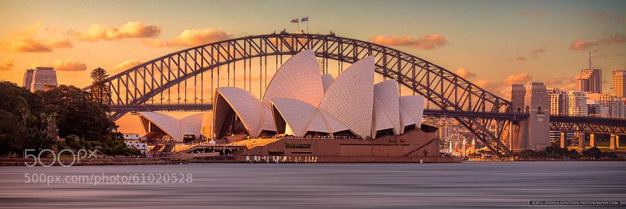 Sydney Opera House Sunset by Joshua Gunther on 500px.com