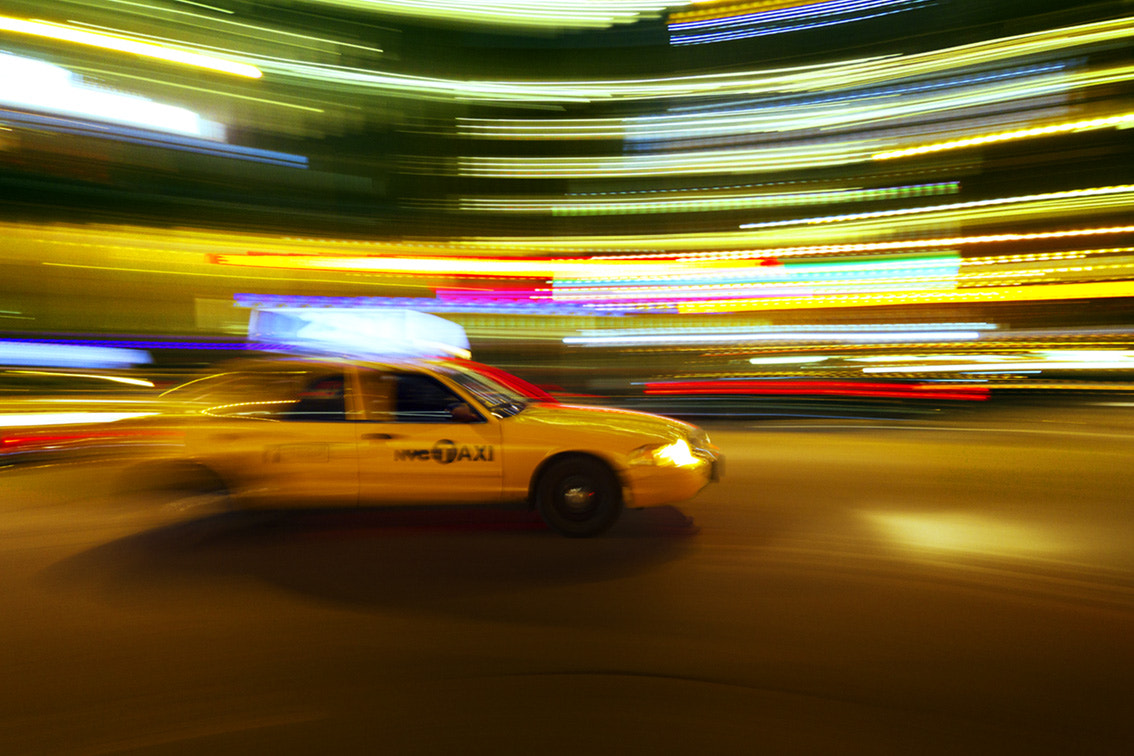 Photograph Times Square Taxi Streaks by Wade Odlum on 500px