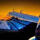 The Georgia sun sets on the Lockheed 12a Electra