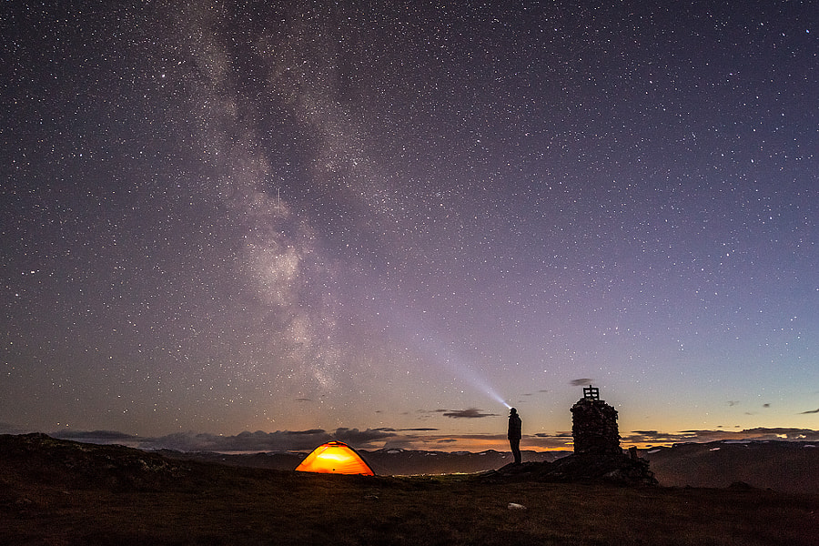Photograph Lighting up the milky way by Espen Haagensen on 500px