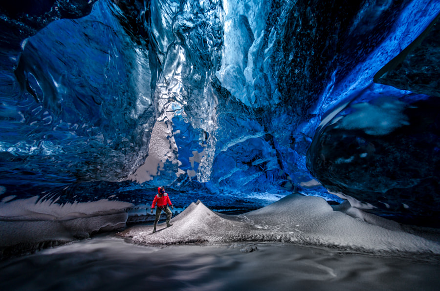 The Lightroom in the Crystal Ice Cave by Einar Runar Sigurdsson on 500px.com