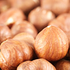 Постер, плакат: Group of hazelnuts