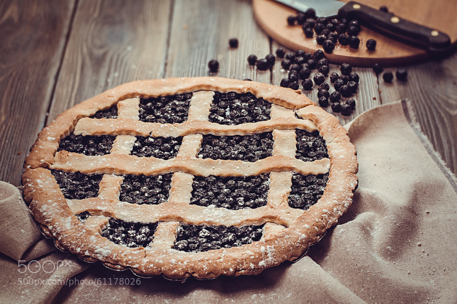 Photograph Blueberry pie by Dina (Food Photography) on 500px