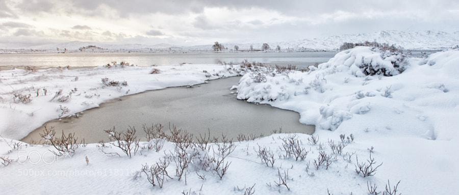 Winter morning at Loch Bà, Scotland.