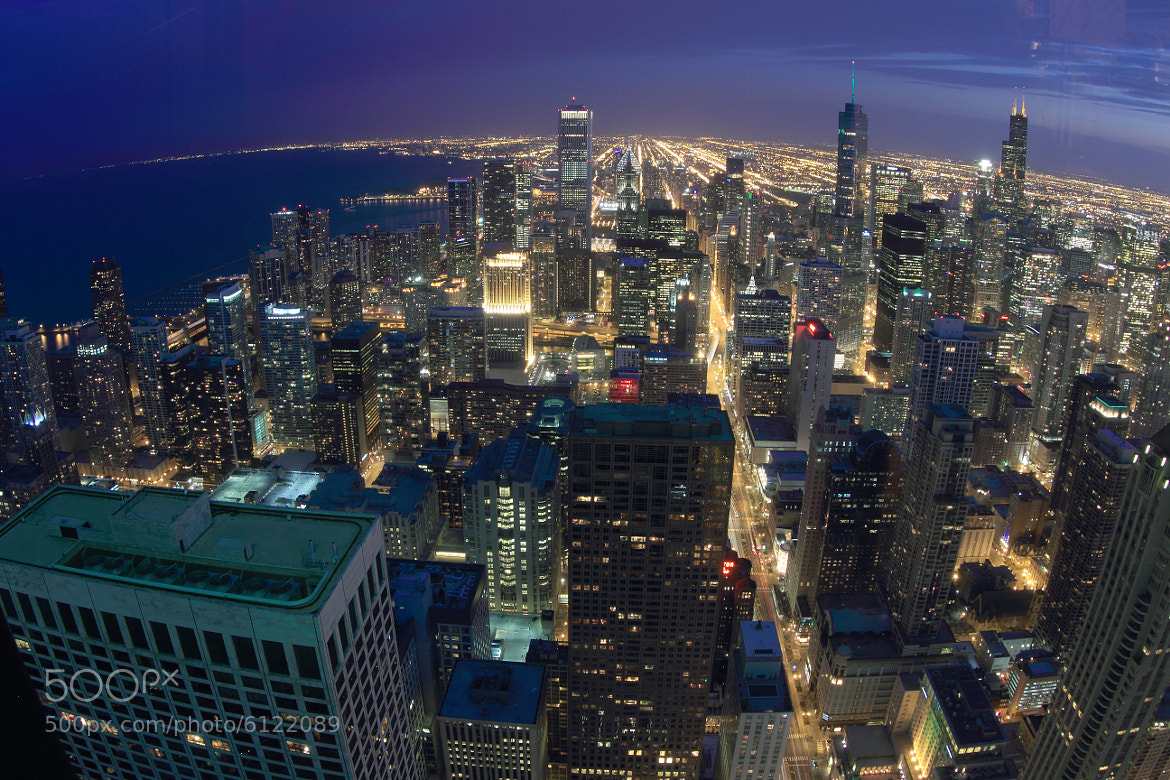 Photograph Chicago at Night by Agnes  Marcellina on 500px