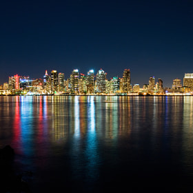 San Diego and the Lunar Eclipse by Brad Peterson (eyezlight)) on 500px.com