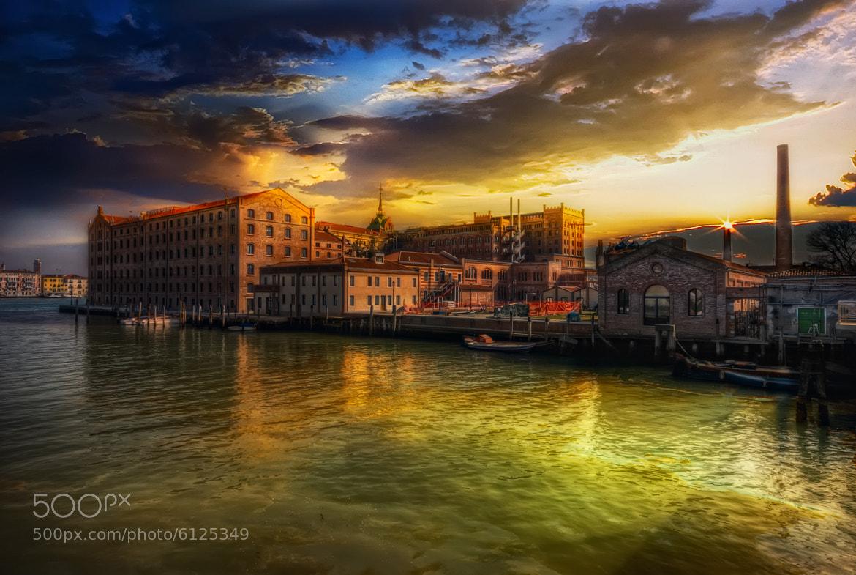 Photograph Venice-Molino Stucky(Dall'isola di Sacca Fisola) by Maurizio Fecchio on 500px