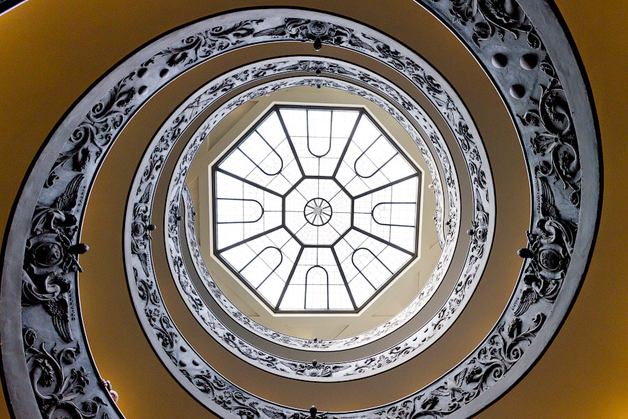 Photograph Vatican stairs bottom up by Alexander Dragunov on 500px