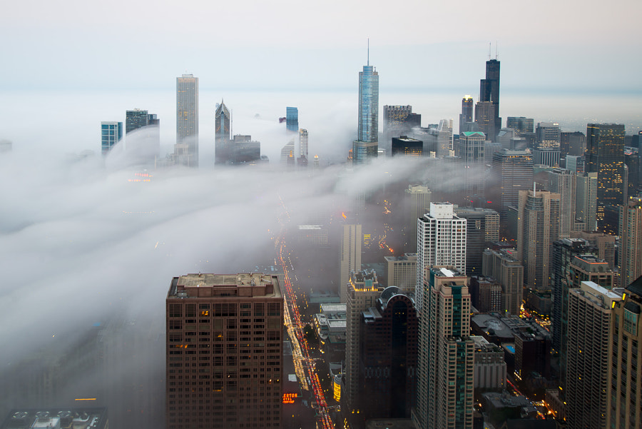 Photograph Rolling Fog Chicago by Peter Tsai on 500px