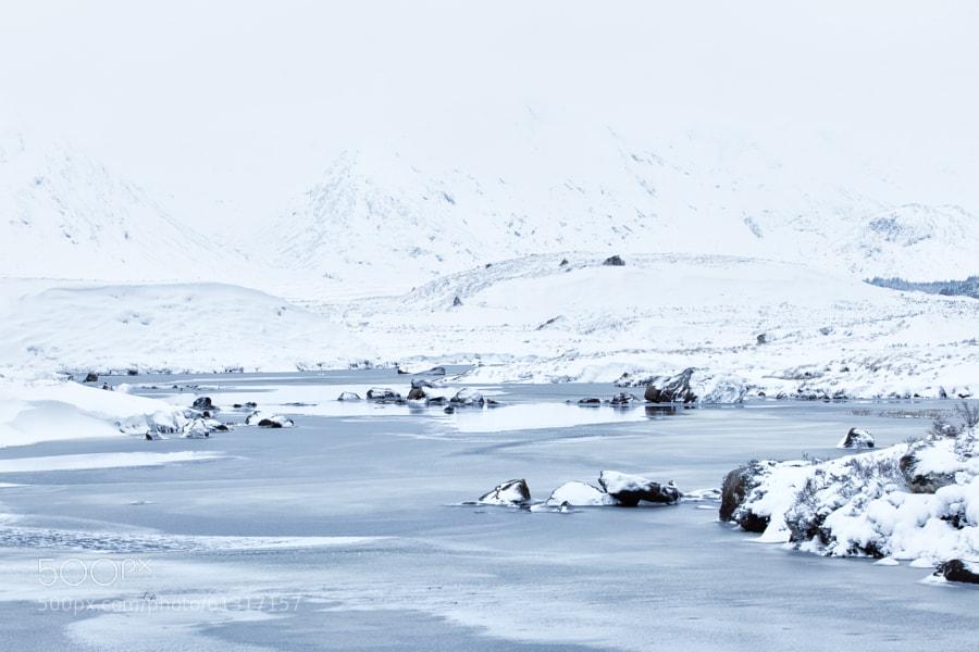 Frozen river Bà on Rannoch Moor, Scotland. www.rpgraphix.zenfolio.com