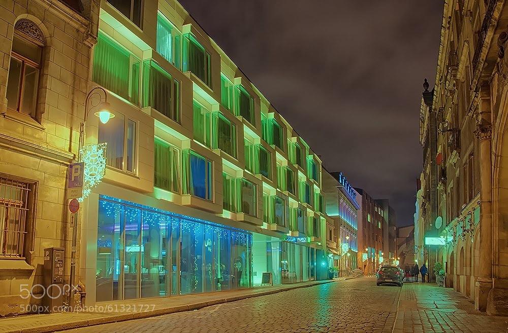 Wrocław nocą Puro Hotel