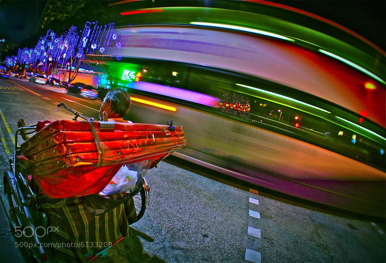 Photograph Dreaming Trishaw Rider by Sim  Kim Seong on 500px