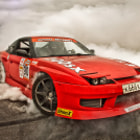Постер, плакат: Nissan 200sx burnout