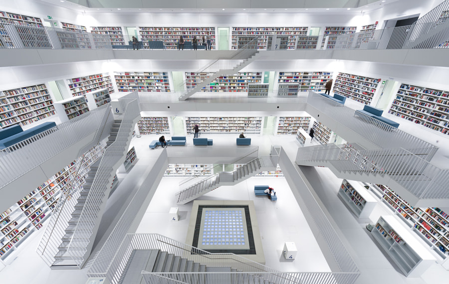 Photograph Library Stuttgart by Markus Mitterberger on 500px