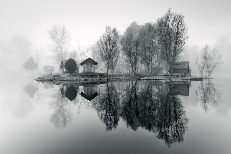 Photograph through the misty air by Adam Dobrovits on 500px