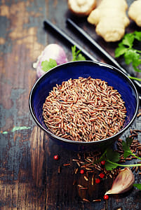 wild rice in ceramic bowl and ingredients by Kimberly Potvin on 500px
