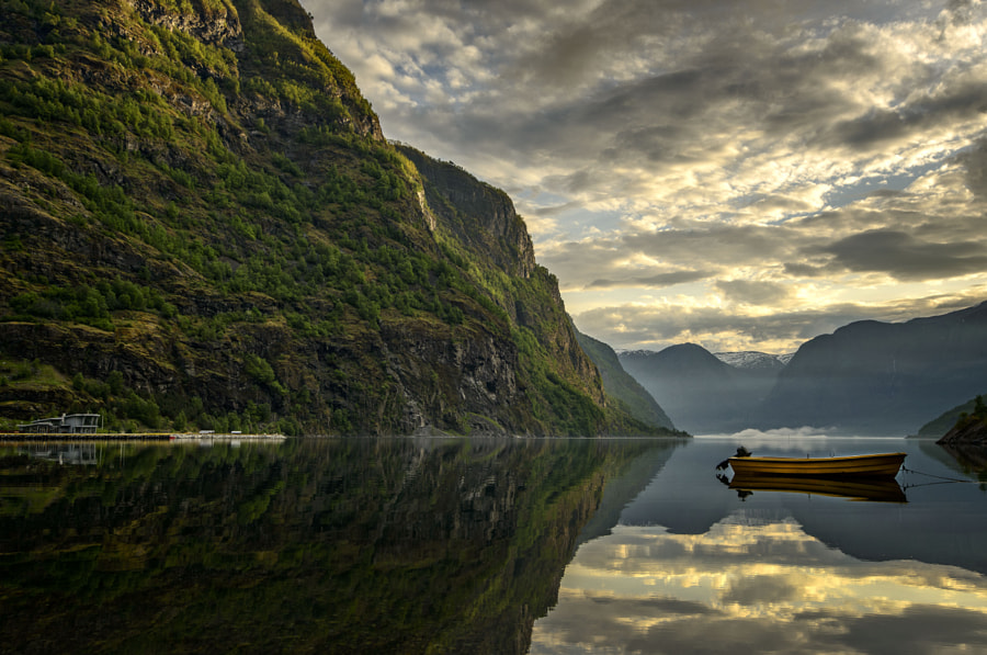 Flåm Reflections in Norway