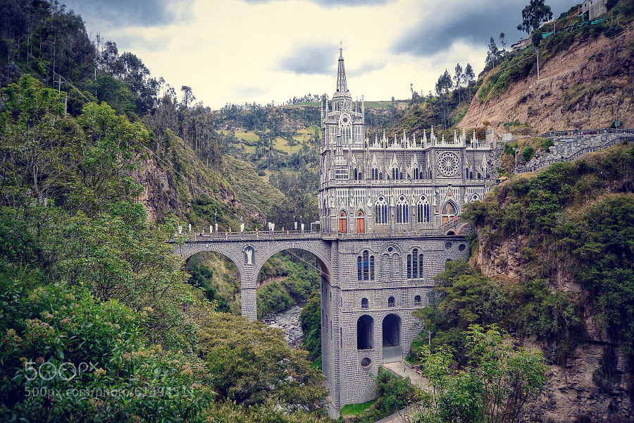 Photograph las lajas cathedral by Levi Novick on 500px