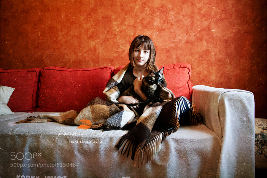 Photograph Girl and Cat by Natalia Lisovskaya on 500px